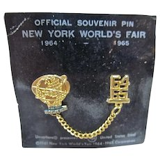 MOC Official Souvenir Pin 1964 New York World's Fair