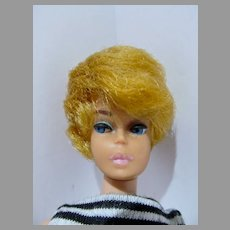 Vintage Blond Barbie Bubblecut with Pink Lips, 1962