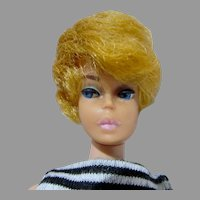 Vintage Blond Barbie Bubblecut with Pink Lips, 1962