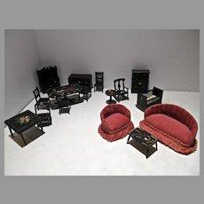 Renwal Penn. Dutch Dollhouse Furniture, 1:16  Scale, 1940's