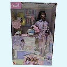 NRFB Mattel Happy Family Neighborhood, African American Baby Doctor