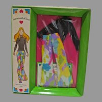 NRFB Hasbro World of Love Outfit, Quilted Pants, 1971