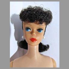 Vintage 1961 Brunette Ponytail Barbie w/Big Ruby Lips, Mattel