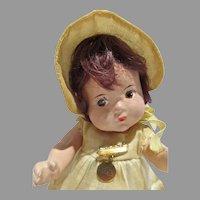 Vintage Madame Alexander Composition Dionne Quintuplet Doll, Annette, 1936