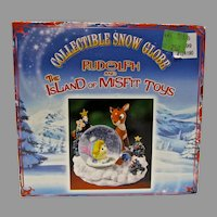 MIB Collectible Snow Globe Rudolph & The Island of Misfit Toys