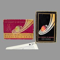 Vintage 1933 Chicago World's Fair Playing Cards