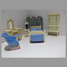 Vintage Ideal Doll House Bedroom Furniture, 1950's
