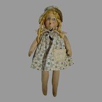 Vintage 1930's Cloth Doll, Charming