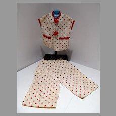 Adorable 1950's Doll Lounging Pajama's