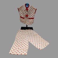 Adorable 1950's Doll Lounging Pajama's