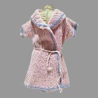 Vintage Doll Chenille Robe w/Tie Belt, 1950's