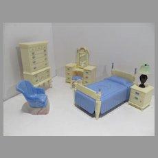 Vintage 1950's Ideal Doll House Bedroom Furniture