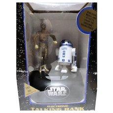 VIntage MIB Star Wars Talking Bank, R2D2&C3PO, 1995