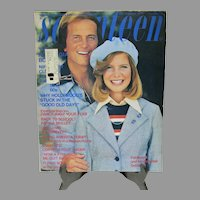 Vintage Seventeen Magazine, Sept. 1974, Pat & Debby Boone Cover