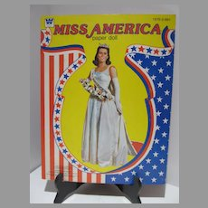 Vintage Un-Cut Miss America Paper Dolls, Whitman, 1979