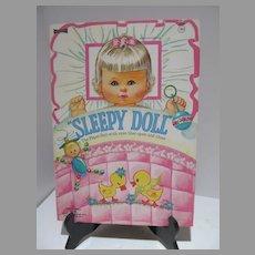 Mint Un-Cut Sleepy Doll Paper Dolls, 1971, Saalfield