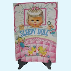 Mint Un-Cut Sleepy Doll Paper Dolls, 1971, Saalfield