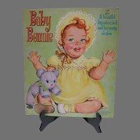 Vintage 1960 Un-Cut Baby Bonnie Paper Dolls, Whitman