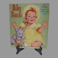 Vintage 1960 Un-Cut Baby Bonnie Paper Dolls, Whitman