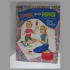 Vintage Cut Tammy and Pepper Paper Dolls, 1966, Whitman