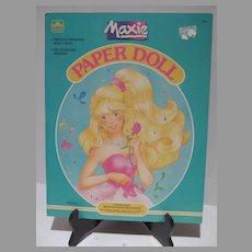 Vintage Maxie (Hasbro) Paper Dolls, Un-cut, 1989, Golden