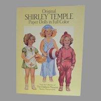 Shirley Temple Paper Dolls in Full Color, Children's Museum, Boston, Re-Print, Un-cut