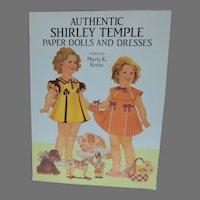 Un -Cut Authentic Shirley Temple Paper Dolls, Marta K. Krebs, Dover Pub. Re-print, 1991