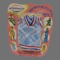 "Vintage Shillman NRFP Knit Sweater for 11 1/2"" Fashon Doll, 1960's"