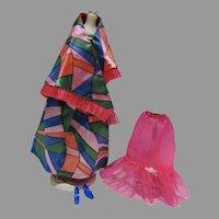 Vintage Barbie Outfit, Rainbow Wraps, 1970, Mattel