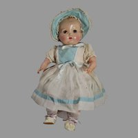 Vintage Ideal Deluxe Baby Beautiful Doll, 1951, Orig. Clothing