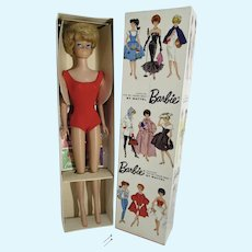 Vintage MIB Mattel Sidepart Bubble Cut Barbie, 1964-5