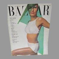 Vintage Harper's Bazaar Fashion Magazine, Jan. 1964, Avedon, Rudi Gernreich, Adolfo, etc