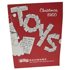Vintage 1960 F.A.O Schwarz Christmas Toy Catalog