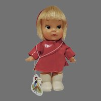 Adorable 1960's Big Eye Doll, Herman Pecker NY