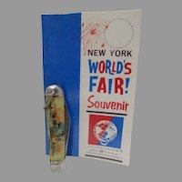 Vintage New York World's Fair 1964-65 Pocket Knit with Card