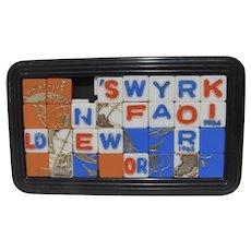 Vintage 1964-65 New York World's Fair Interlocking Sliding Puzzle