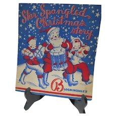 Vintage Bloomingdale's Dept. Store Children's Christmas Book, Premium, 1950's