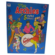 Mint Un-Cut The Archies Paper Dolls, Whitman, 1969