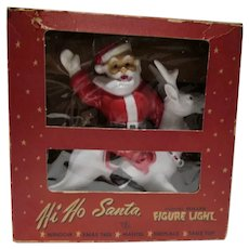 "1950's Miller Electric ""Hi Ho Santa"" Figure Light MIB"