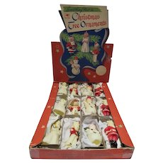 MIB, 1950's Tavern Candle Wax Christmas Ornaments