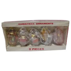 MIB Jewelbrite Faceted Christmas Ornaments