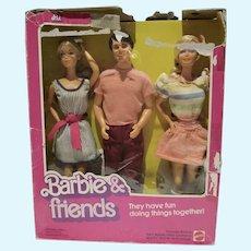 1982 Mattel NRFB Barbie & Friends Gift Set w/P.J. Ken & Barbie
