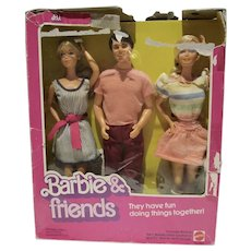 1982 Mattel NRFB Barbie & Friends Gift Set w/P.J. Ken & Barbie