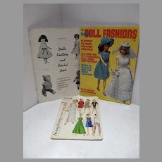 Collection of Vintage Doll Patterns, 1960's