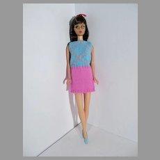 1968 Brunette TNT Barbie Doll in Knit Hit, Mattel