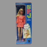 NRFB Mattel Talking P.J. Doll, 1969