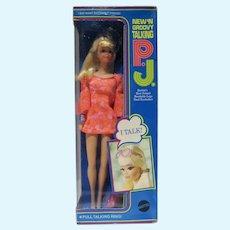 NRFB Mattel Talking P.J. Doll, 1969