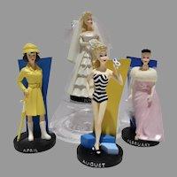 Danbury Mint Barbie Figurines w/Months of the Year