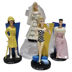 Danbury Mint Barbie Figurines w/Months of the Year