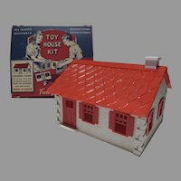 Vintage 1950's Build A House, Toy House Kit, MIB